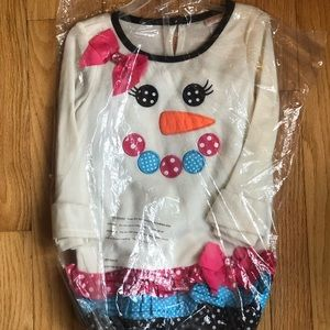 White Snowman Tiered Tunic and Legging Set